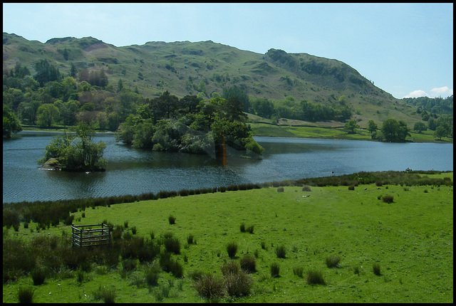 Rydal Water and Heron Island