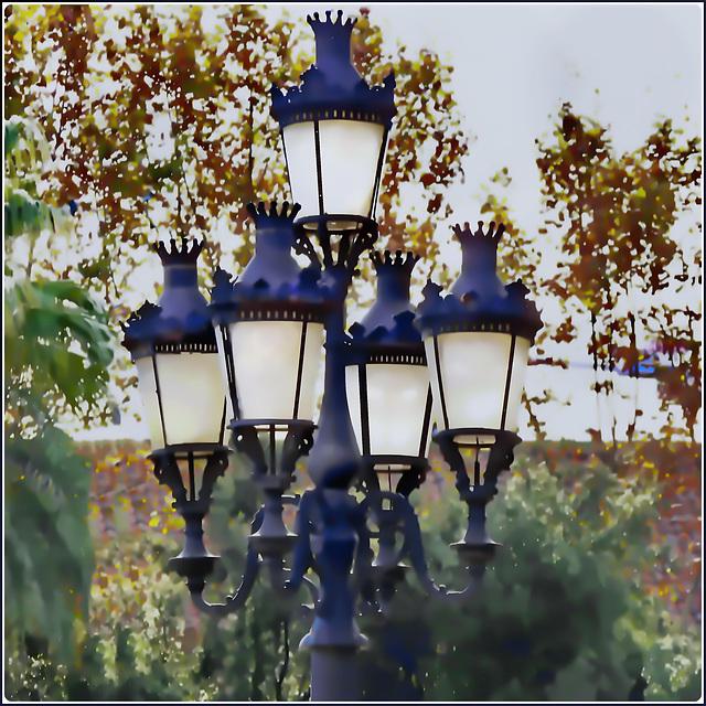Barcellona : La Rambla - un bel penta-lampione