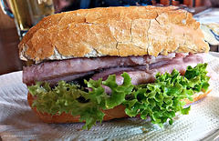 enjoy a herring sandwich !