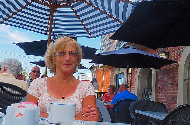 Alida and I went for dinner in Brighton, Ontario.