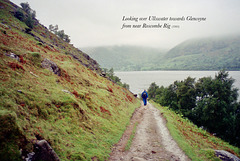 Looking over Ullswater towards Glencoyne from near Roscombe Rig (Scan from May 1993)