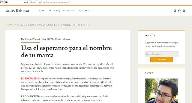Esperanto per a la teva nova marca
