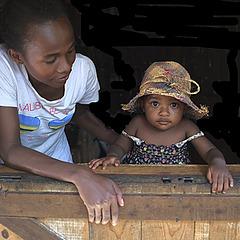 Sonné et Jayra  - Village Antsiranatsara - Sainte-Marie (Madagascar)