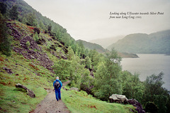Looking along Ullswater Towards Silver Point from near Long Crag (Scan from May 1993)