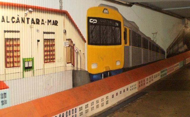 Alcântara railway station - nowadays.
