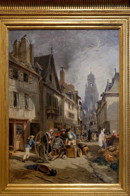 """""""Le rémouleur à Morlaix"""" (Jules Noël - 19e siècle)"""