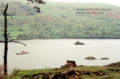 Looking over Ullswater to Glencoyne Bay from near Silver Crag (Scan from May 1993)