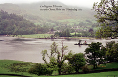 Looking over Ullswater towards Cherry Holme and Glenridding (Scan from May 1993)