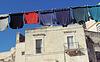 Shirts in the sky of Matera (Basilicata/Italy)