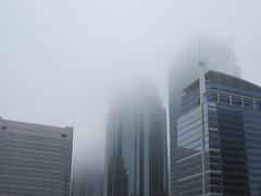 Fog day in Calgary Canada