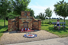 A place to sit and remember ~ RAF Metheringham Memorial to 106 Squadron ~ Lest we forget
