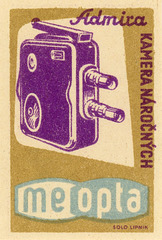 Admira Movie Camera Matchbox Label