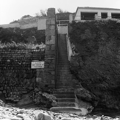 Cliff steps at St Agnes - 1981