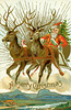 A Merry Christmas from Wild-Eyed Santa and His Galloping Reindeer