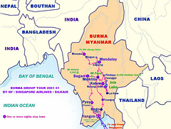 Burma Dandaryi Travel-NF Group Itinerary 2001