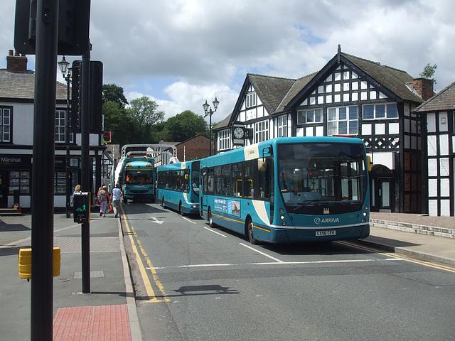 DSCF7664 Arriva 2613 (CX56 CEK) and 2620 (CX07 COJ) in Northwich - 15 June 2017