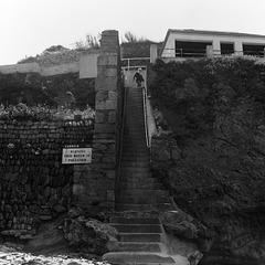 Man on steps at St Agnes - 1981