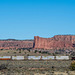 A train passed on the way to the painted desert
