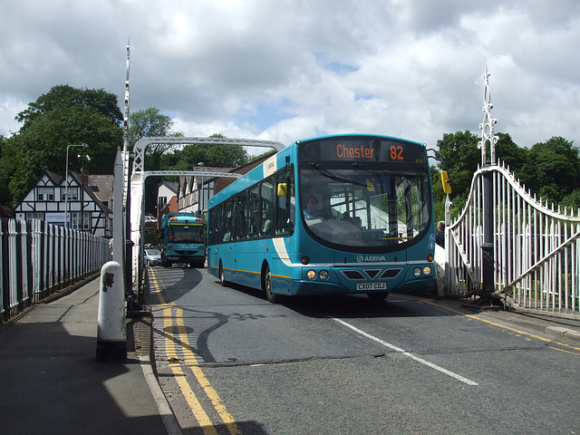 DSCF7663 Arriva 2620 (CX07 COJ) in Northwich - 15 June 2017