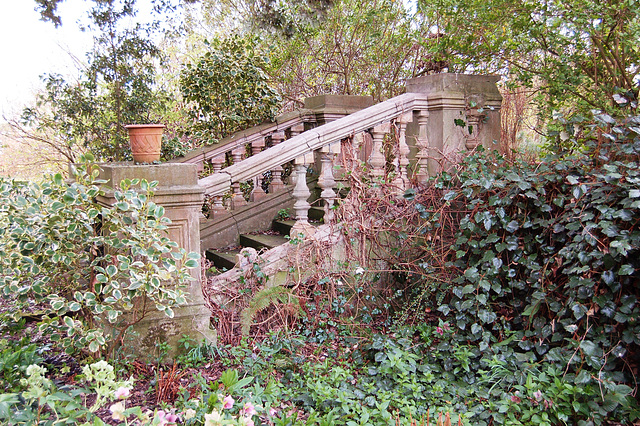 Steps to Terrace, site of Easton Lodge (demolished), Essex