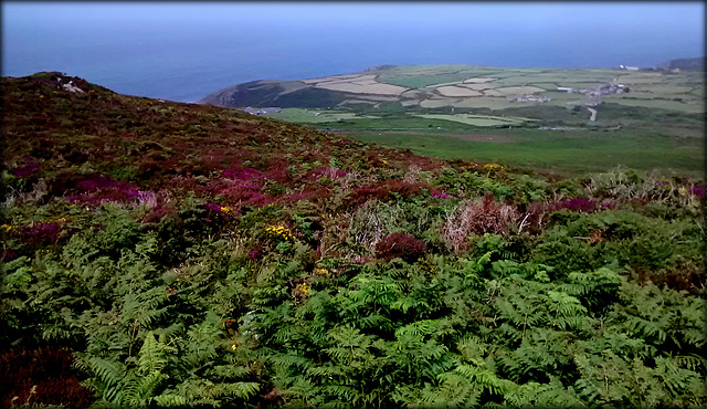 Zennor Parish from Carn Galva 2, on a very hot day.