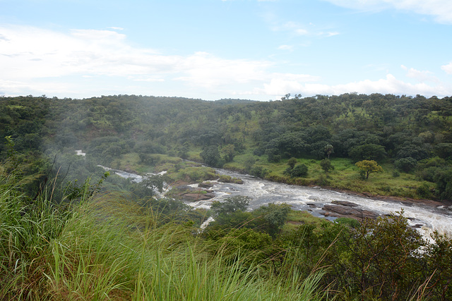 Uganda, The Victoria-Nile River and Water Dust from Murchison Falls