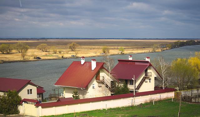 Blick auf Dniester in Majaky