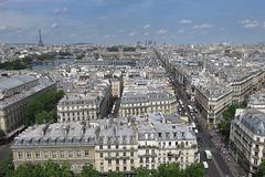 Paris vue sur l'ouest et la rue de Rivoli