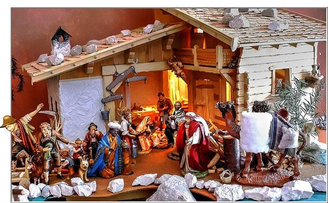Christmas nativity scene at 3-King's Day. ©UdoSm