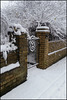 snow-patterned gateway