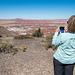 Shari taking her photo of the painted desert