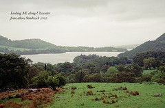 Looking NE along Ullswater from above Sandwich (Scan from May 1993)