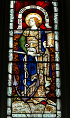 Victorian Stained Glass Detail, Little Easton Church, Essex