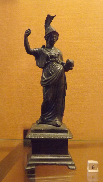 Bronze Statuette of Minerva Probably from a Lararium in the Naples Archaeological Museum, July 2012