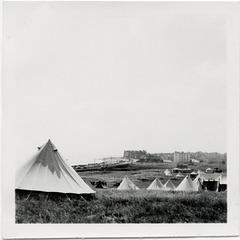 Camping at Bexhill, July 1955