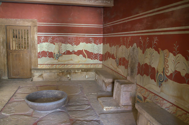 Throne Room (Goddess Sanctuary) at Knossos