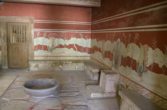 Throne Room (Goddess Sanctuary) at Knossos