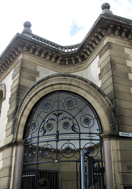 The old bank - entrance.