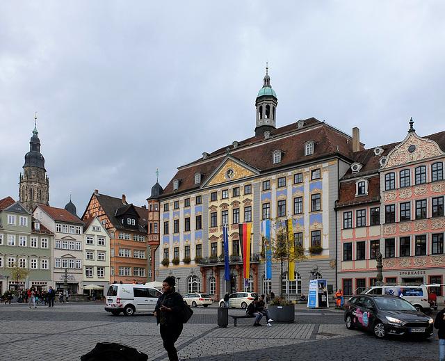 Der Coburger Marktplatz Südseite