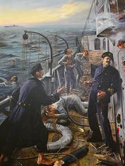 Lisbon 2018 – Museu de Marinha – Minesweeper Augusto de Castilho engaged in combat with the German sub U139