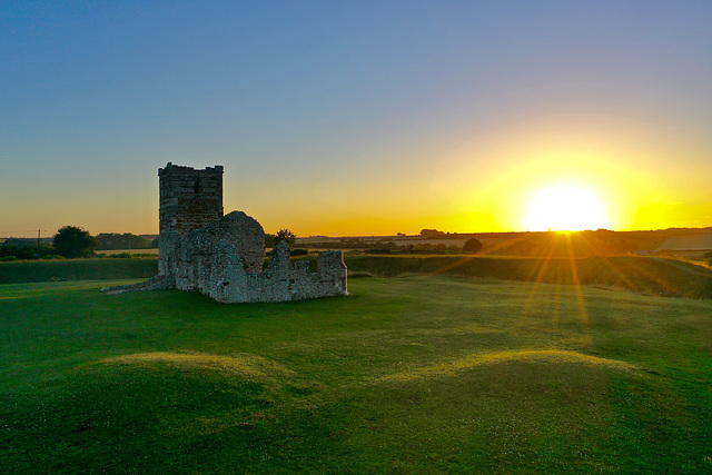 Knowlton Church sunset
