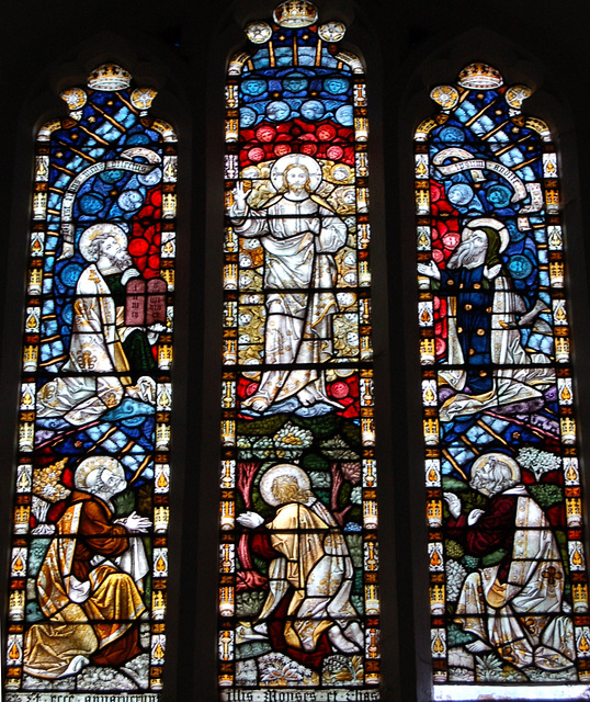 Victorian Stained Glass, Little Easton Church, Essex