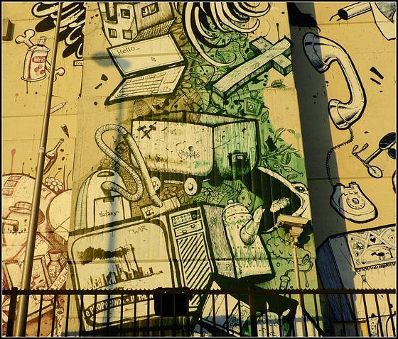 Below Mural