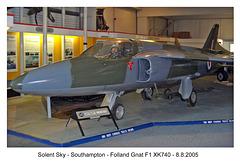 Folland Gnat F1 XK740
