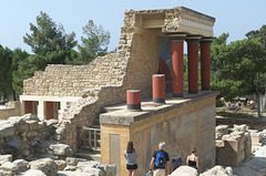 The North Entrance at Knossos Palace