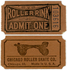 Roller Rink Ticket, Chicago Roller Skate Company, Chicago, Ill.
