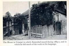 Zamenhofa domo en Veisejai (Litovio)
