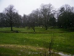Il a neigé hier...