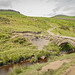 The old packhorse bridge over 'Burbage brook'