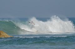 Netanya, Surfer in the Wave